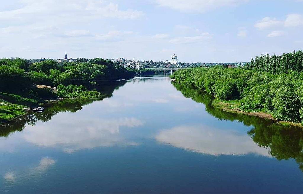 Куда течет река сосна схема фото 309